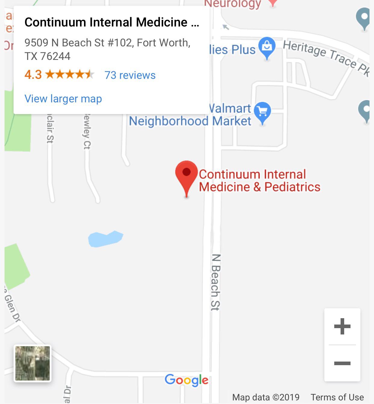 Pediatrics Google Directions Map