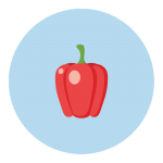 bell pepper baby size
